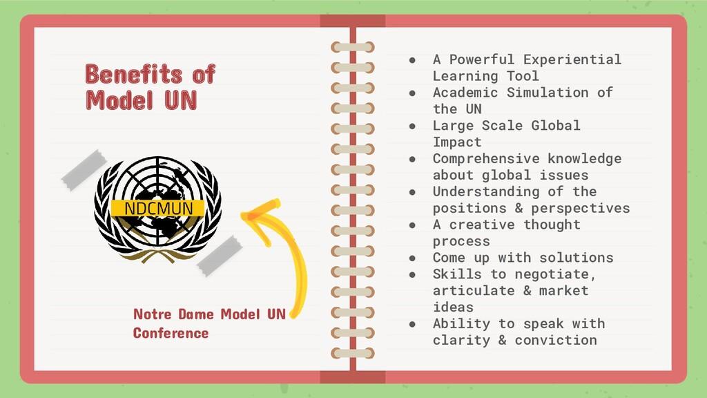 Notre Dame Model UN Conference ● A Powerful Exp...