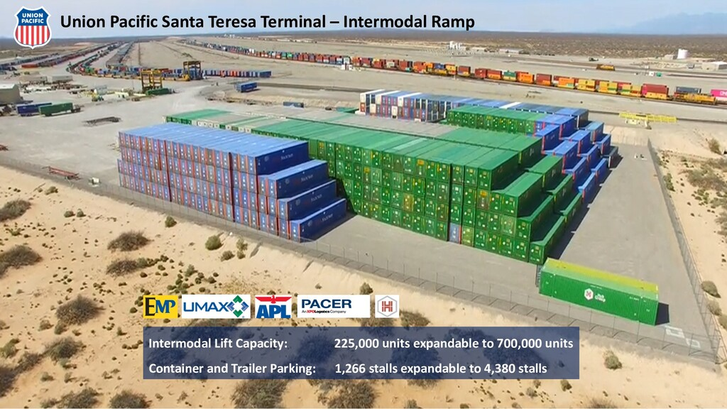 Intermodal Lift Capacity: 225,000 units expanda...