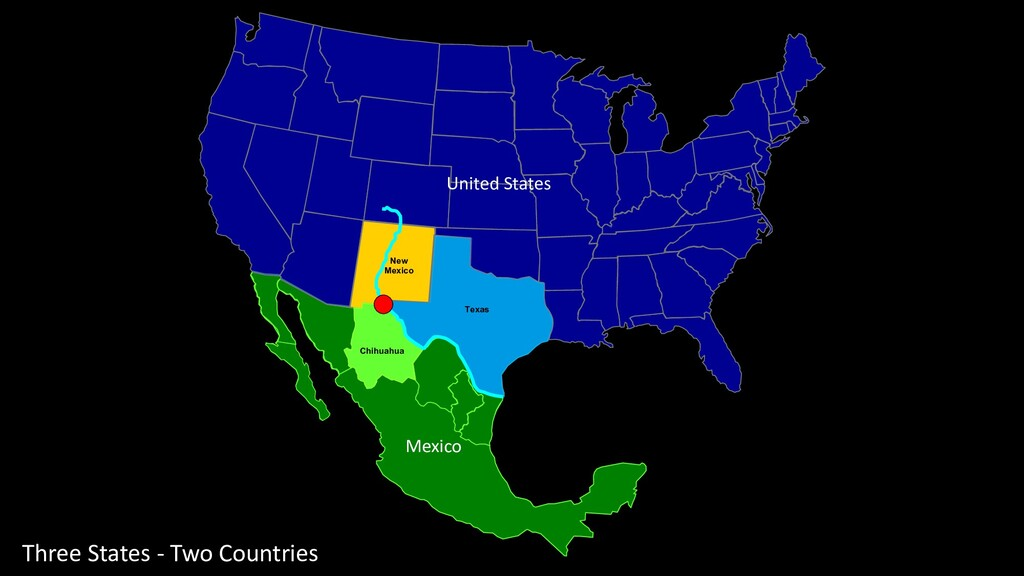 Three States - Two Countries Texas New Mexico C...