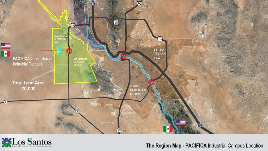 The Region Map - PACIFICA Industrial Campus Loc...