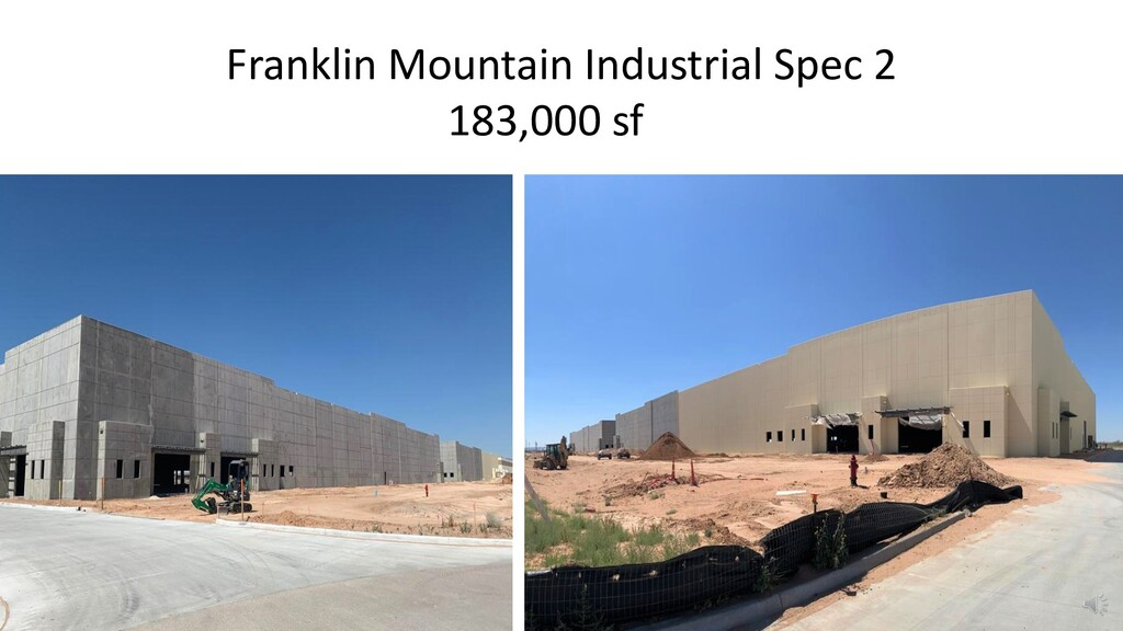 Franklin Mountain Industrial Spec 2 183,000 sfsf