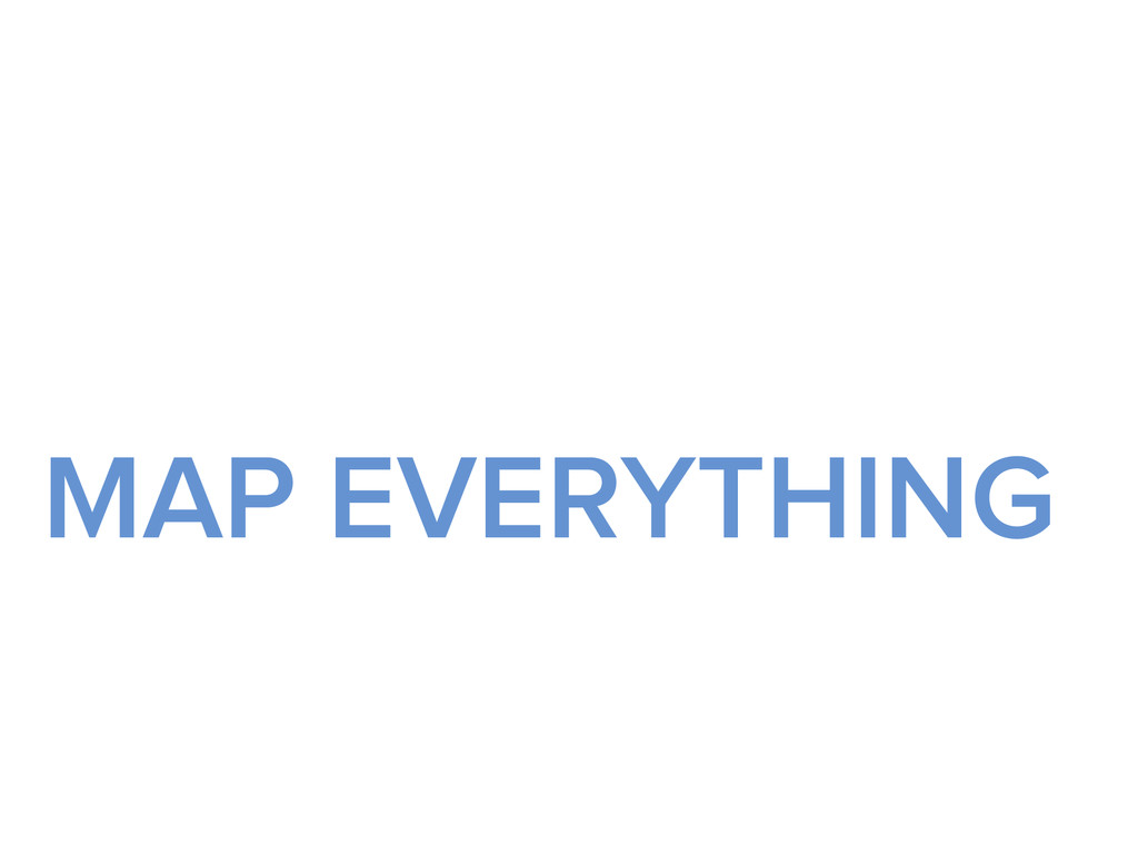 MAP EVERYTHING