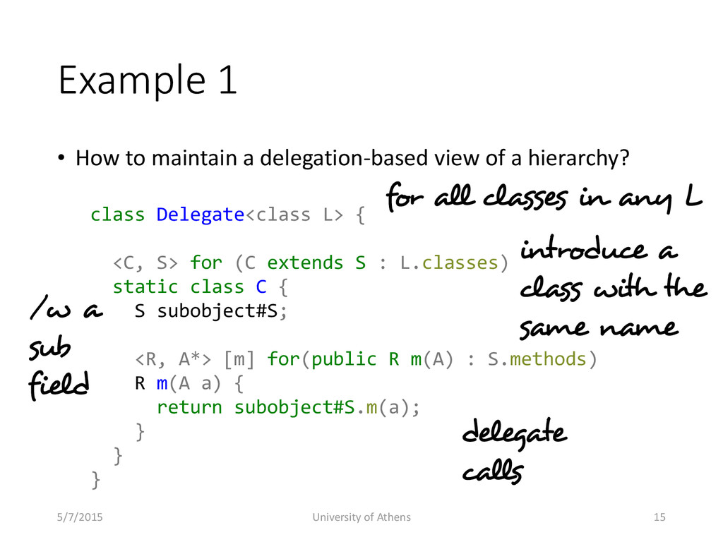 Example 1 • How to maintain a delegation-based ...