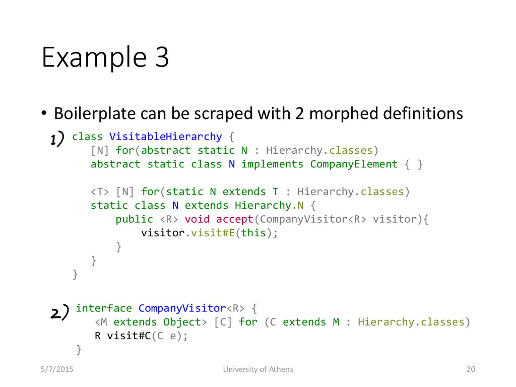 Example 3 • Boilerplate can be scraped with 2 m...