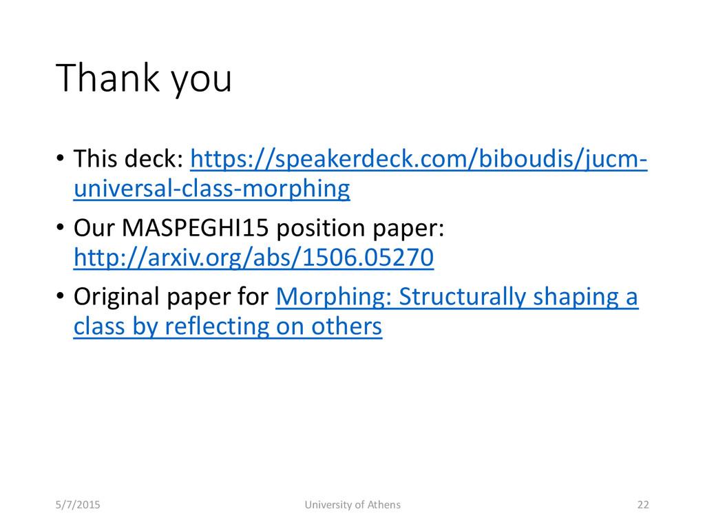 Thank you • This deck: https://speakerdeck.com/...