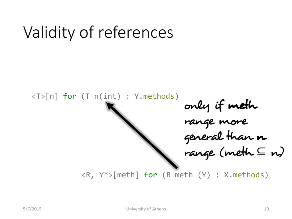 Validity of references only if meth range more ...