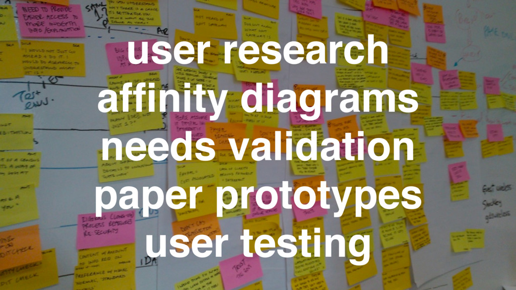 user research affinity diagrams needs validation...