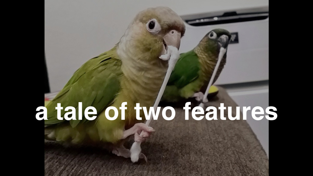 a tale of two features