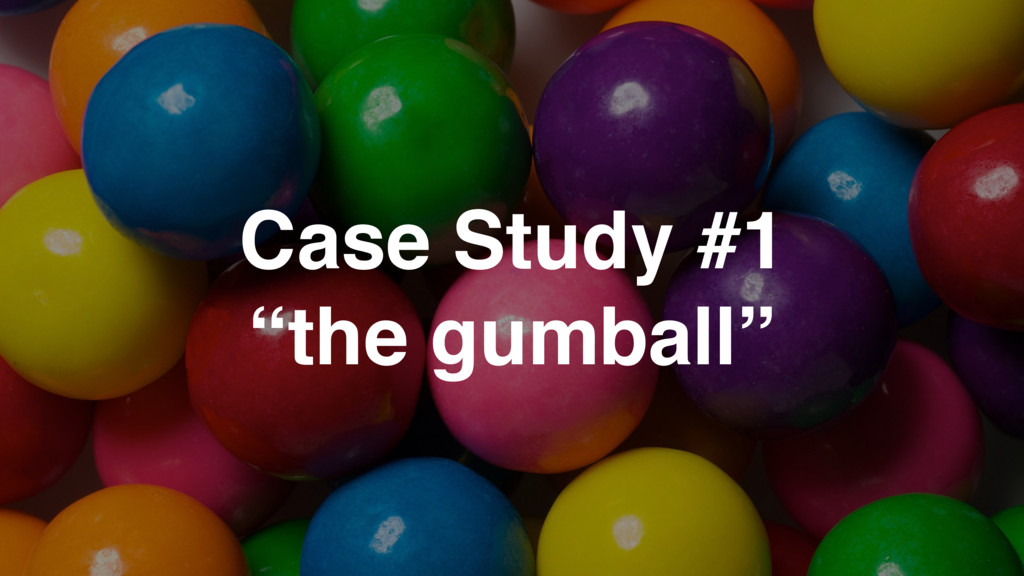 """Case Study #1 """"the gumball"""""""