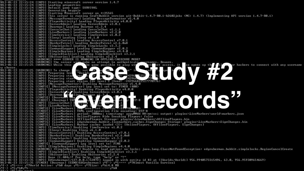 "Case Study #2 ""event records"""