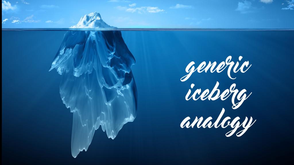 generic iceberg analogy