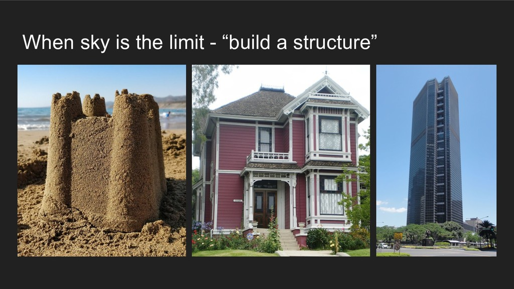 "When sky is the limit - ""build a structure"""