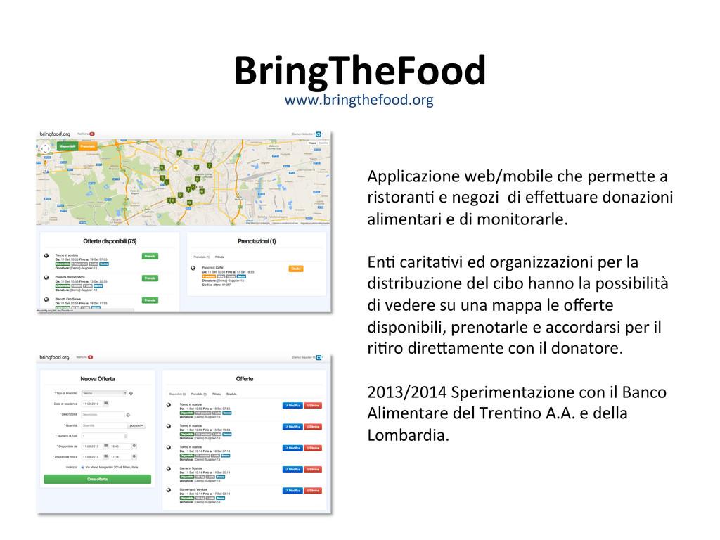 BringTheFood  Applicazione web/mobile ...