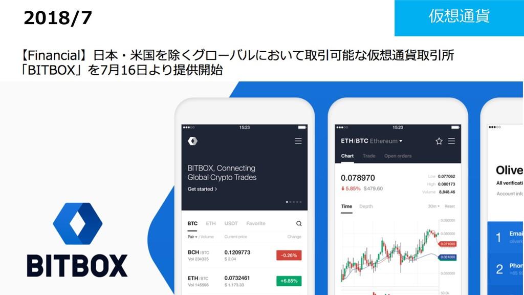 2018/7 仮想通貨