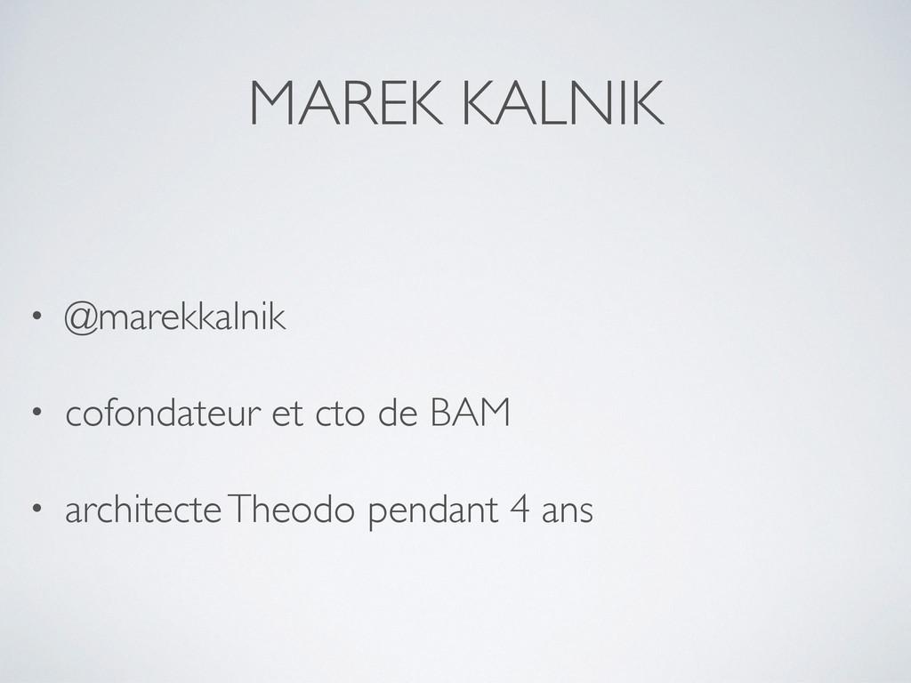MAREK KALNIK • @marekkalnik • cofondateur et ct...