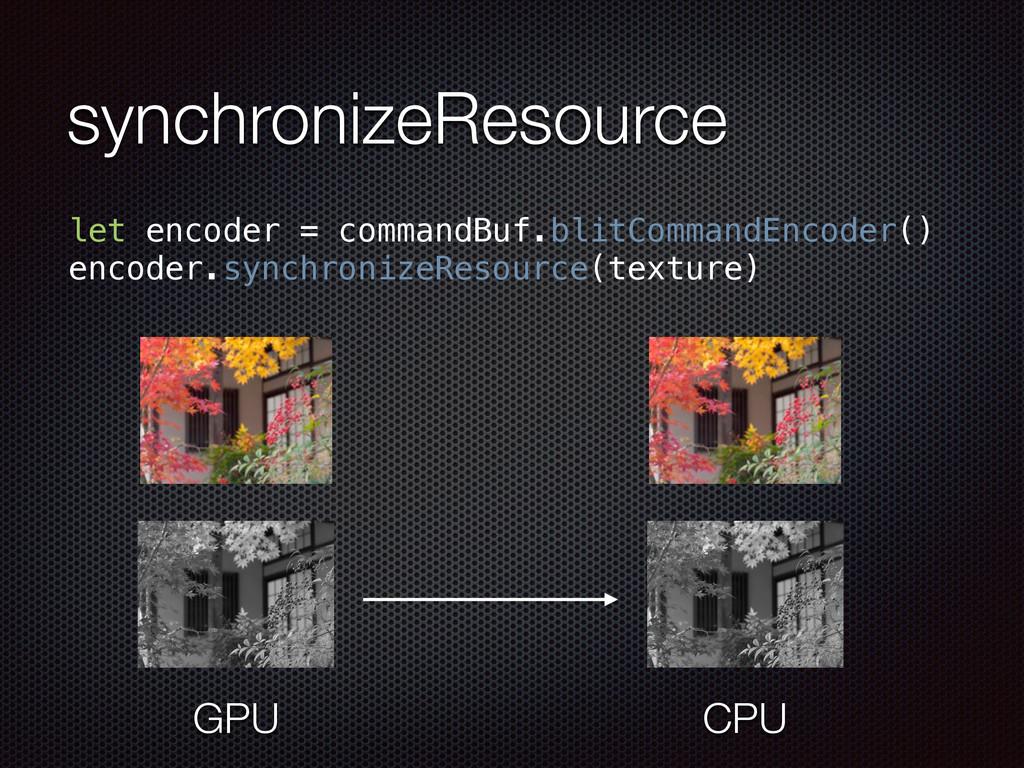 synchronizeResource let encoder = commandBuf.bl...