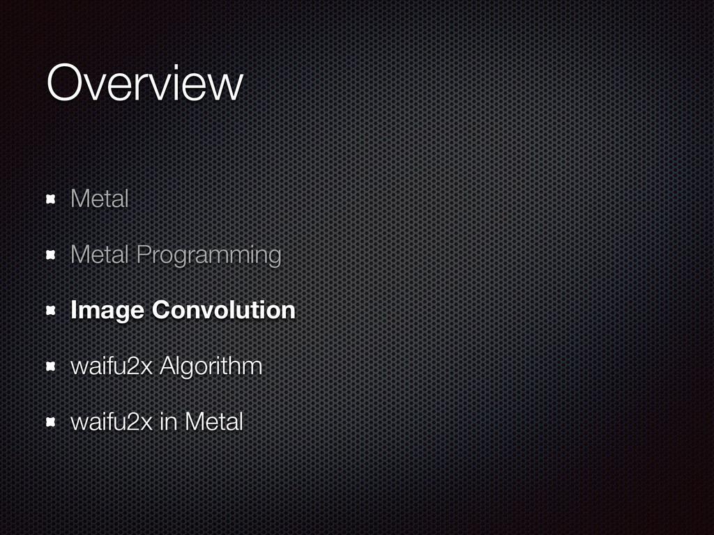 Overview Metal Metal Programming Image Convolut...