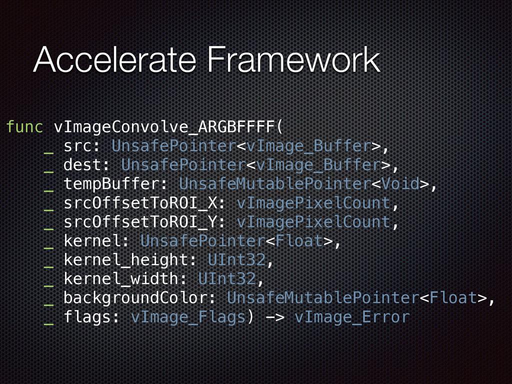 Accelerate Framework func vImageConvolve_ARGBFF...