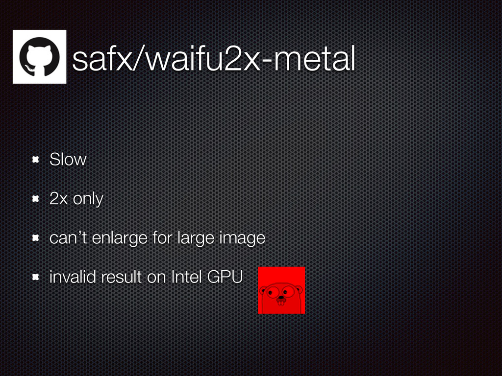 safx/waifu2x-metal Slow 2x only can't enlarge f...