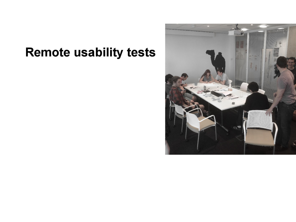 Remote usability tests