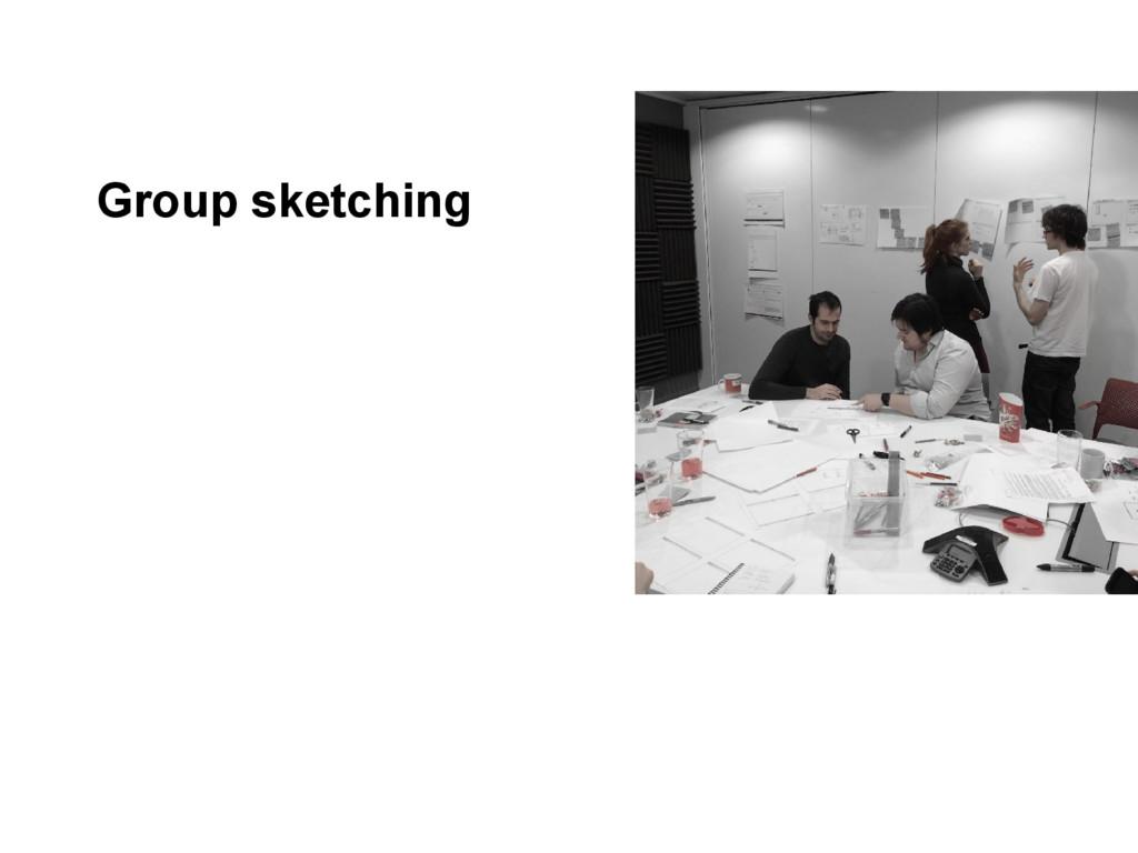 Group sketching