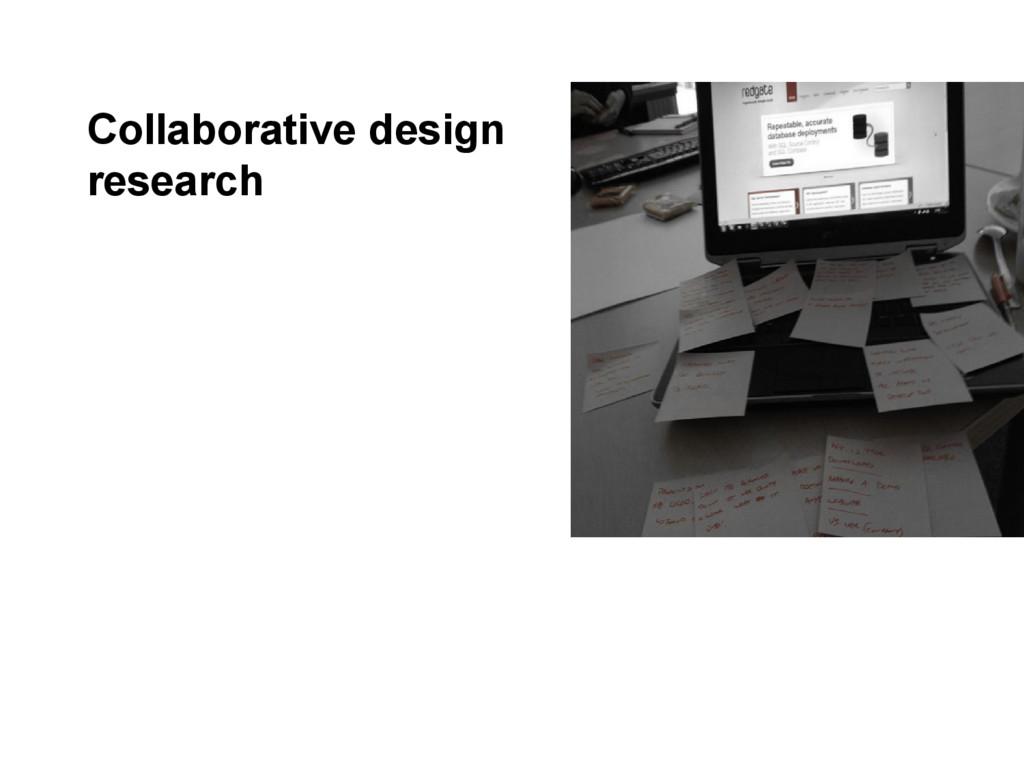 Collaborative design research