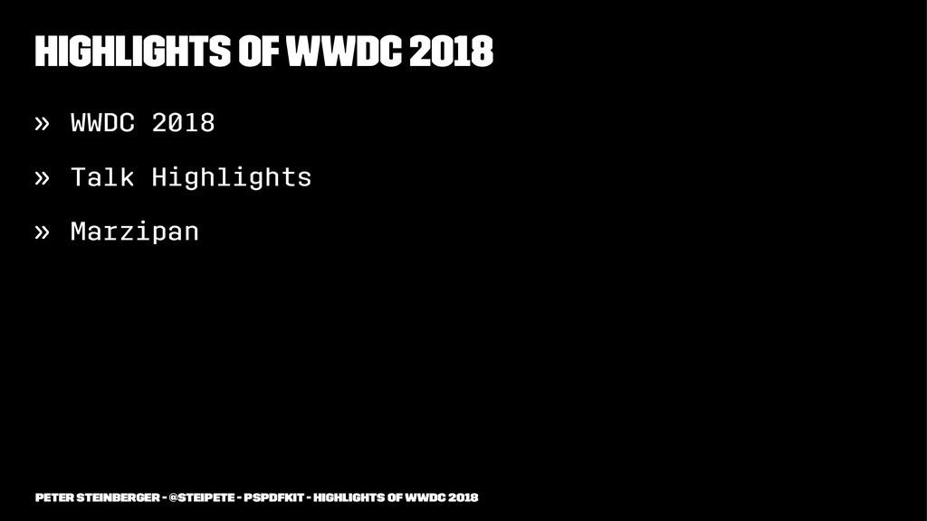 Highlights of WWDC 2018 » WWDC 2018 » Talk High...