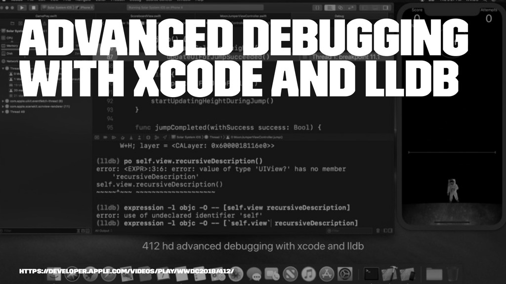 Advanced Debugging with Xcode and LLDB https://...
