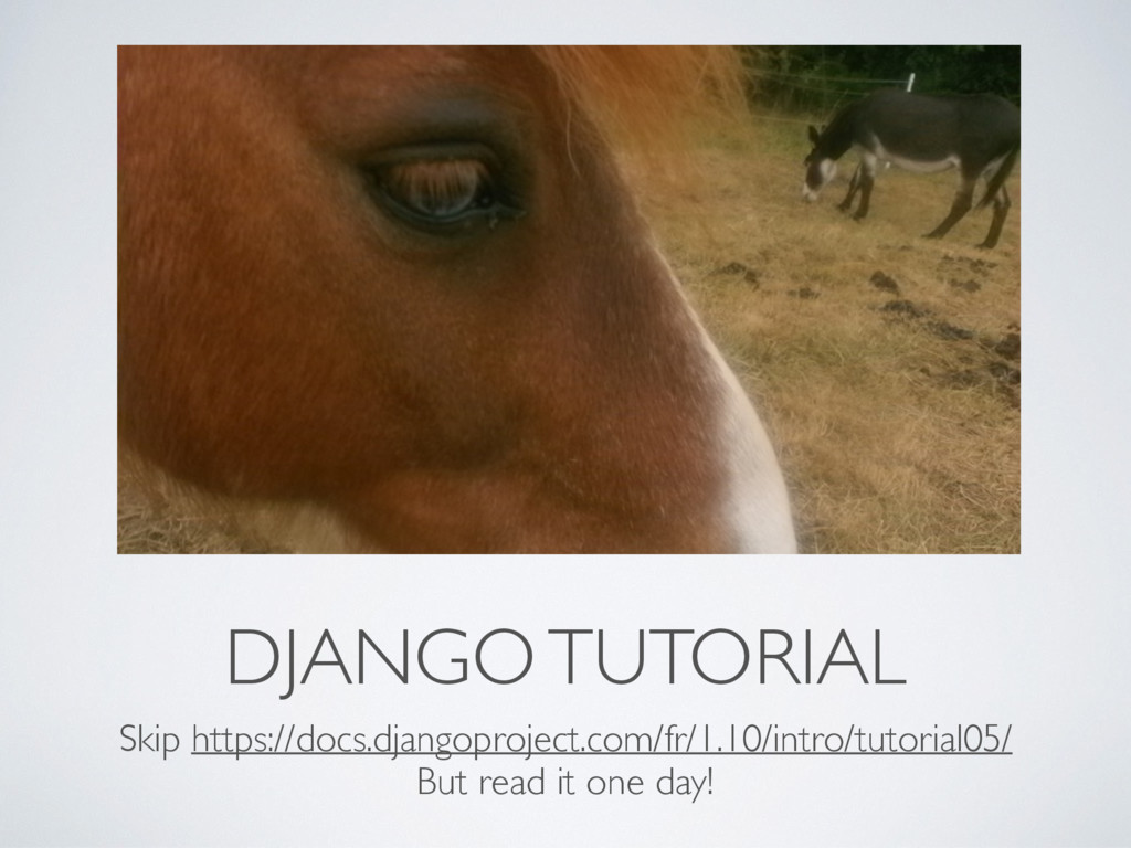 DJANGO TUTORIAL Skip https://docs.djangoproject...