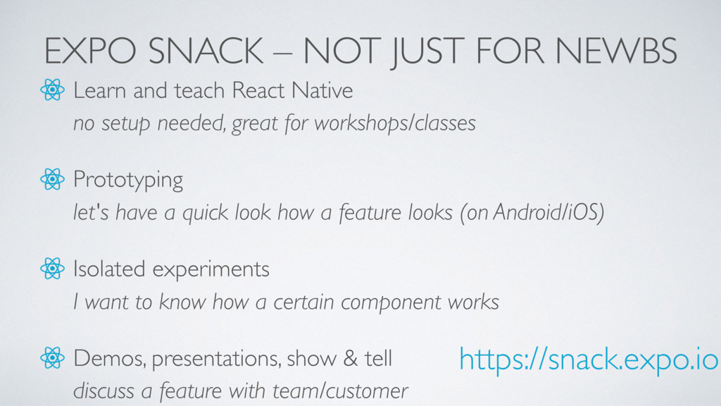 EXPO SNACK – NOT JUST FOR NEWBS Learn and teach...