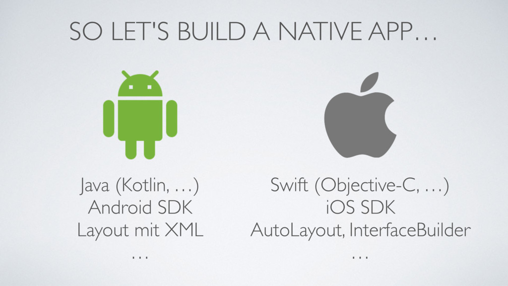 Java (Kotlin, …) Android SDK Layout mit XML … S...