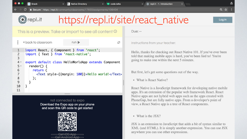 https://repl.it/site/react_native