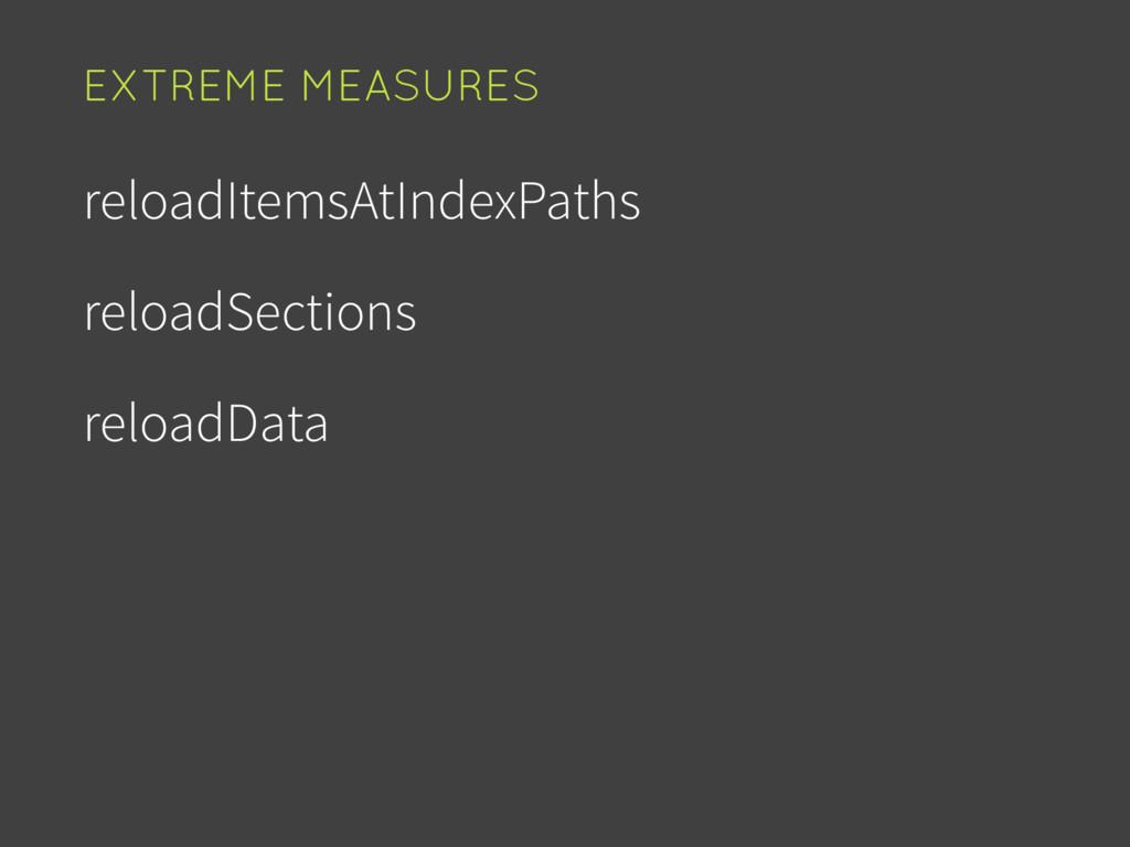 reloadItemsAtIndexPaths reloadSections reloadDa...