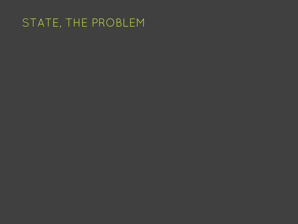 STATE, THE PROBLEM