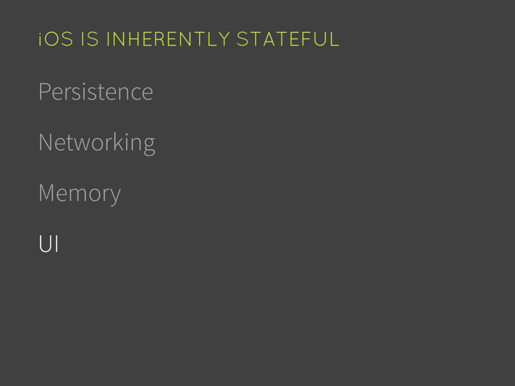 Persistence Networking Memory UI iOS IS INHEREN...