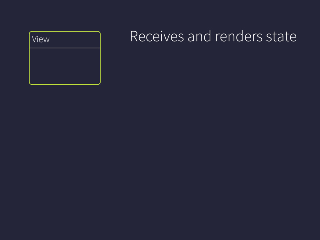 View Receives and renders state