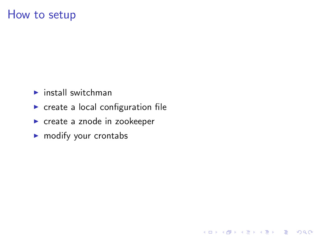 How to setup install switchman create a local c...