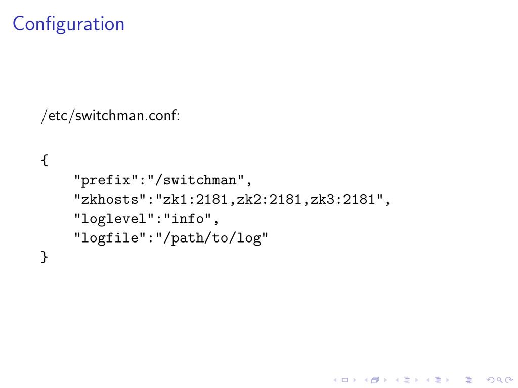 """Configuration /etc/switchman.conf: { """"prefix"""":""""/..."""
