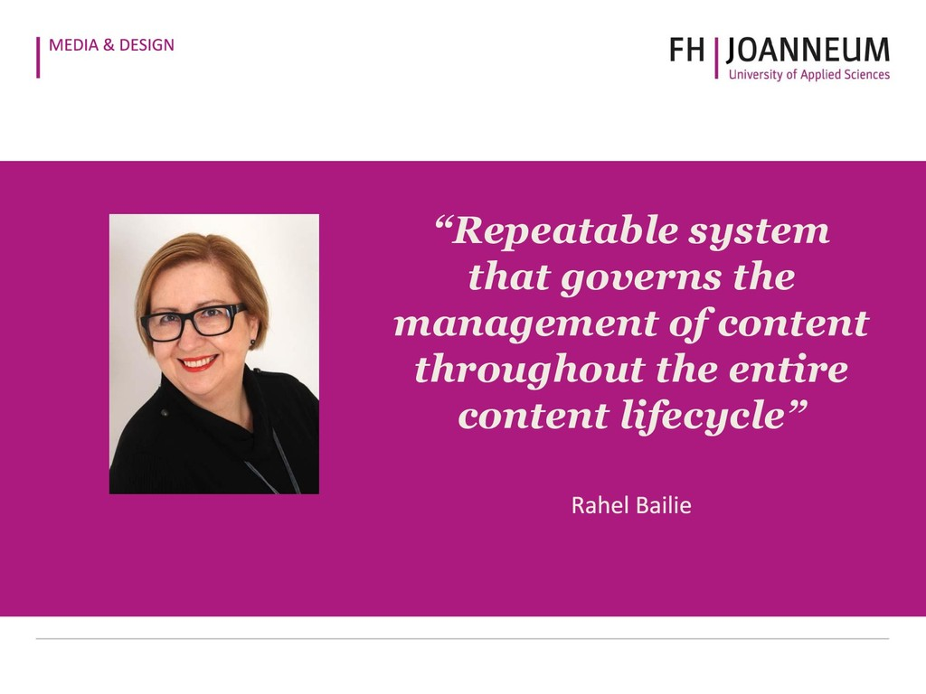 """""""Repeatable system that governs the management ..."""