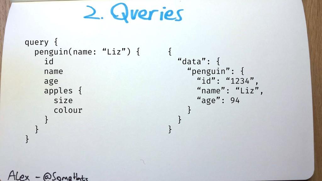 "query { penguin(name: ""Liz"") { id name age appl..."