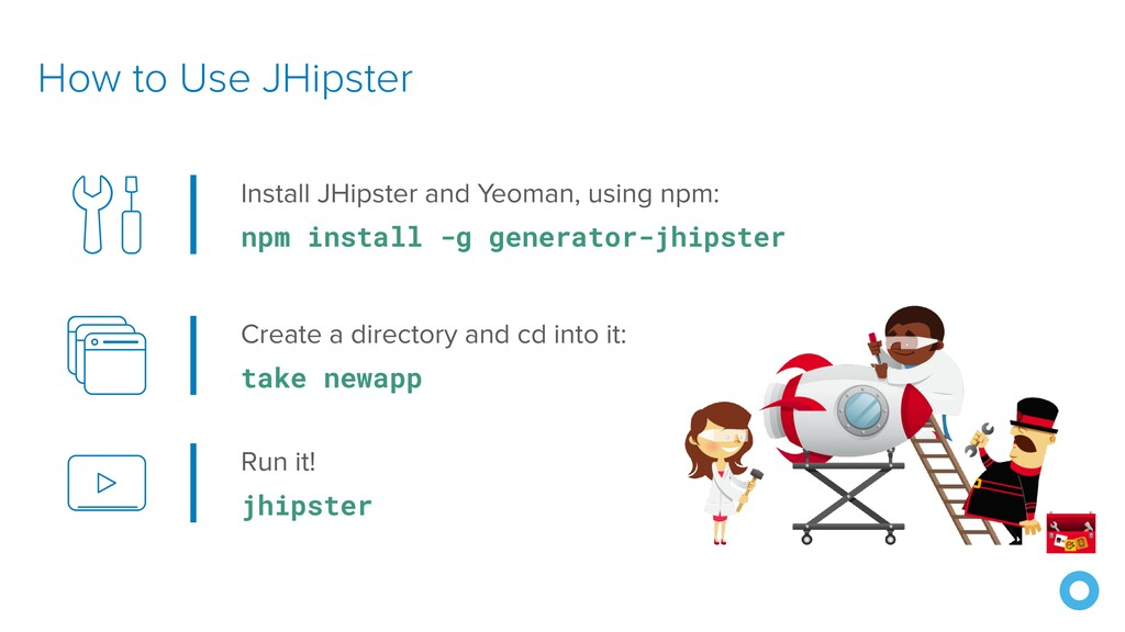 How to Use JHipster Install JHipster and Yeoman...