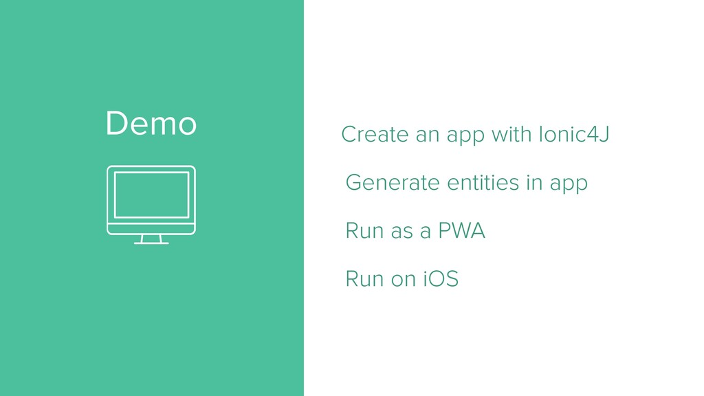 Demo Create an app with Ionic4J   Generate enti...