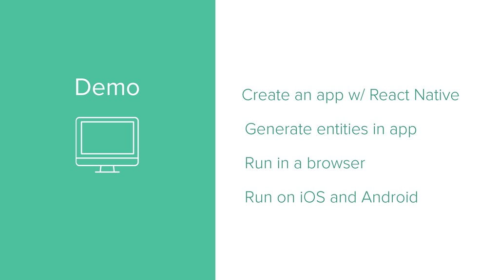 Demo Create an app w/ React Native   Generate e...