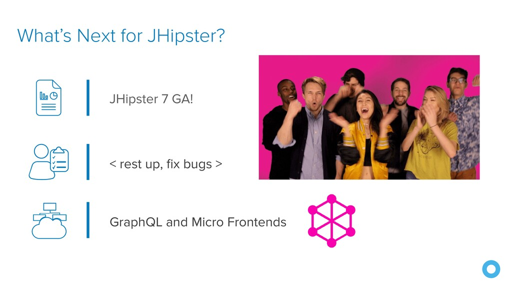 What's Next for JHipster? < rest up, fix bugs >...
