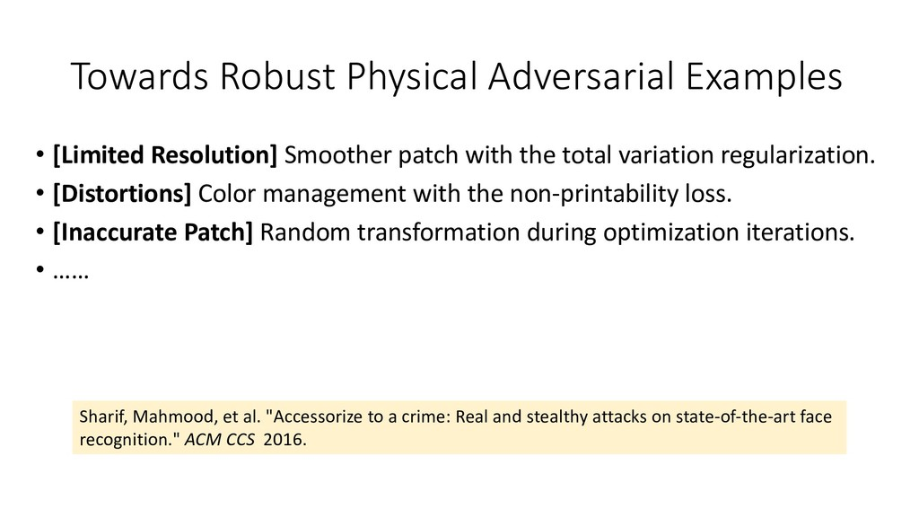 Towards Robust Physical Adversarial Examples • ...