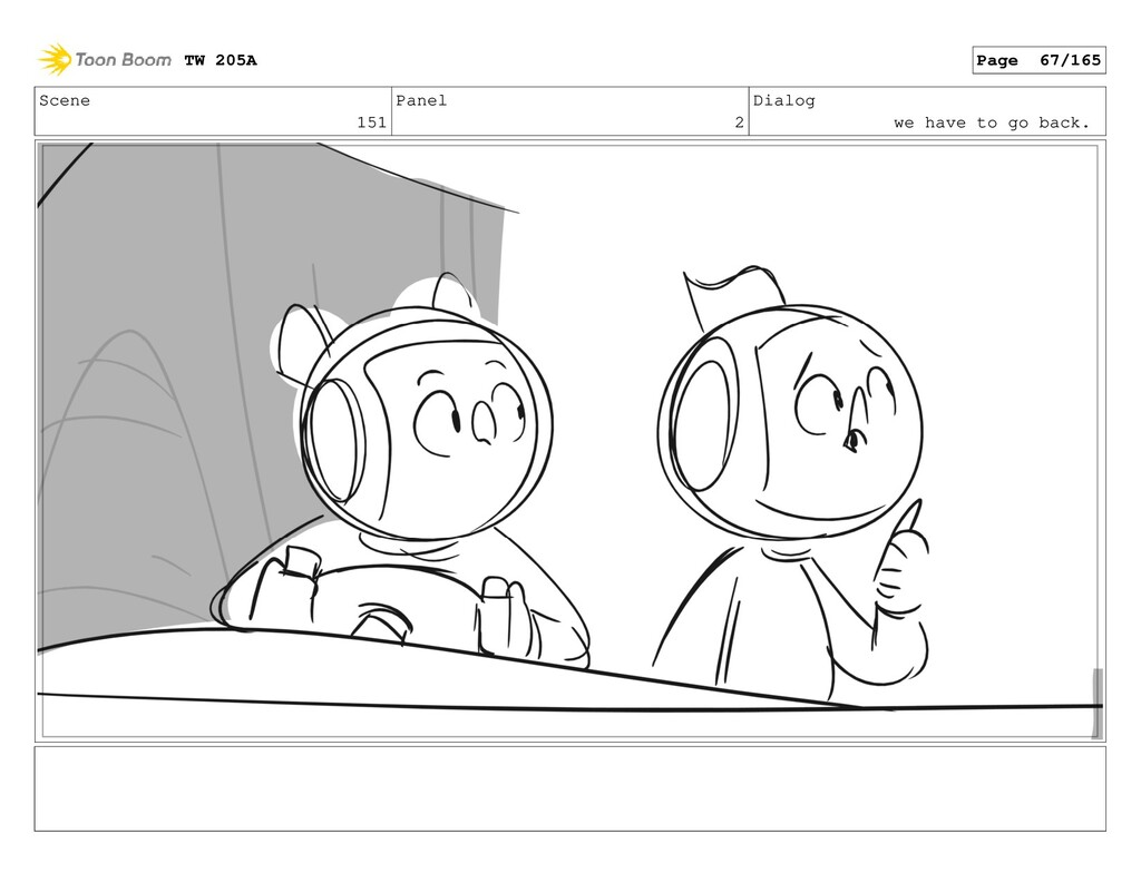 Scene 151 Panel 2 Dialog we have to go back. TW...