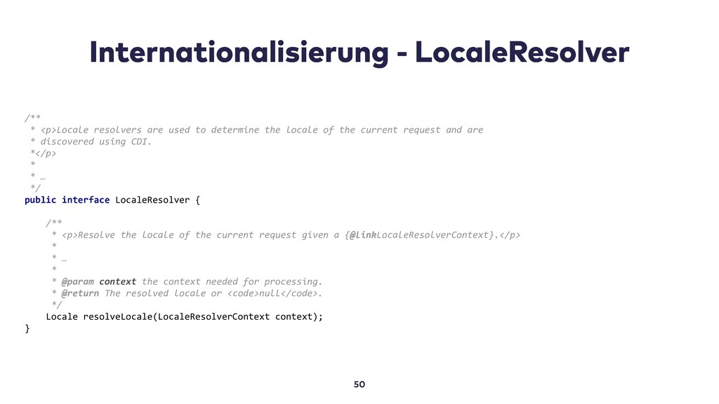 /** * <p>Locale resolvers are used to determine...