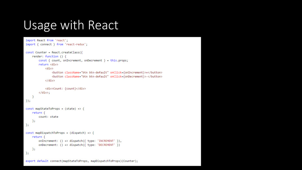 Usage with React