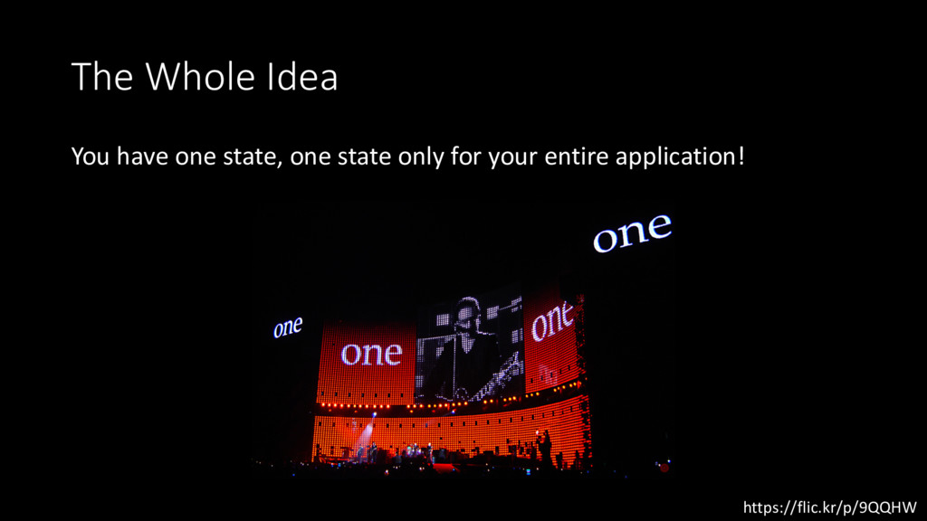 The Whole Idea You have one state, one state on...