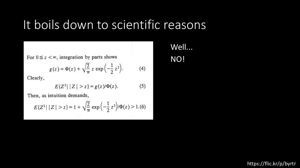 It boils down to scientific reasons https://fli...